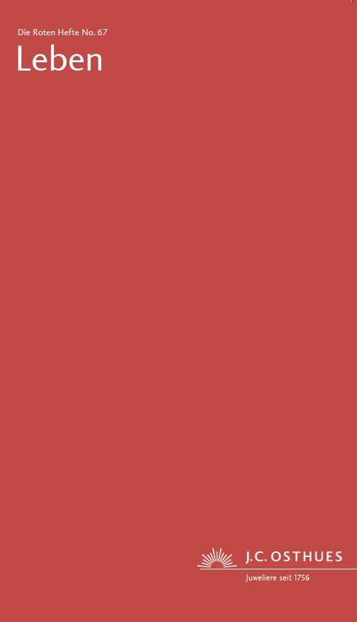 Titel Rotes Heft in Rot Ausgabe Leben