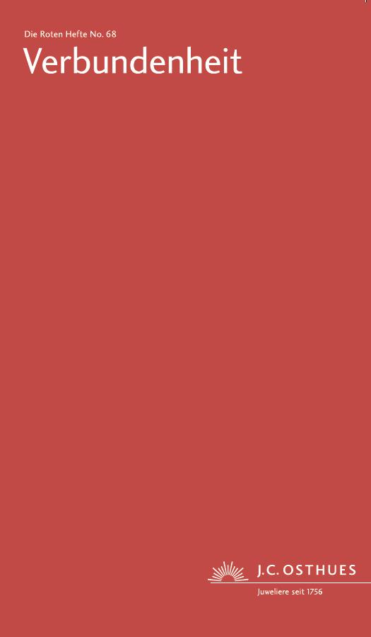 Titel Rotes Heft in Rot Ausgabe Verbundenheit
