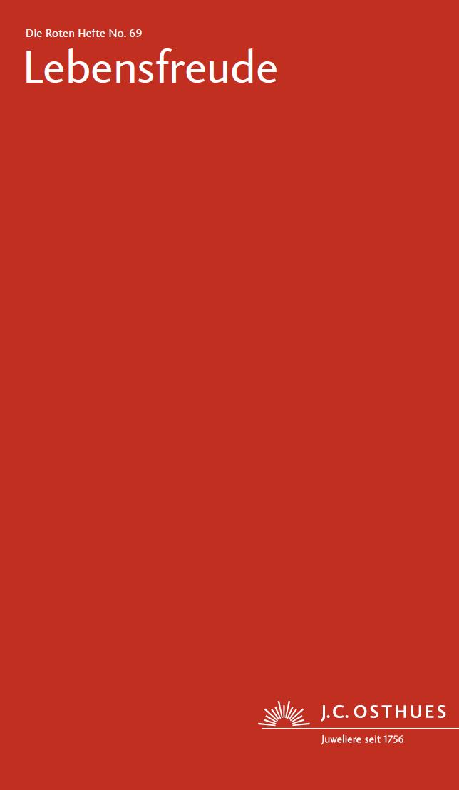 Titel Rotes Heft in Rot Ausgabe Lebensfreude